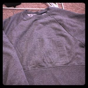 Gray cropped Nike sweater